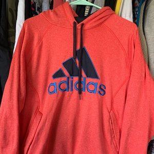 Adidas salmon climalite hoodie